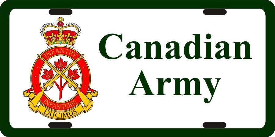 Canada Military Police Branch Badge License Plate