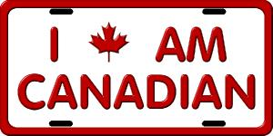 Canada License Plates. Click for pricing & designs