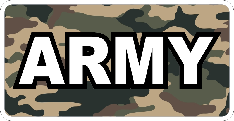 Army Camo (Brown) Decal