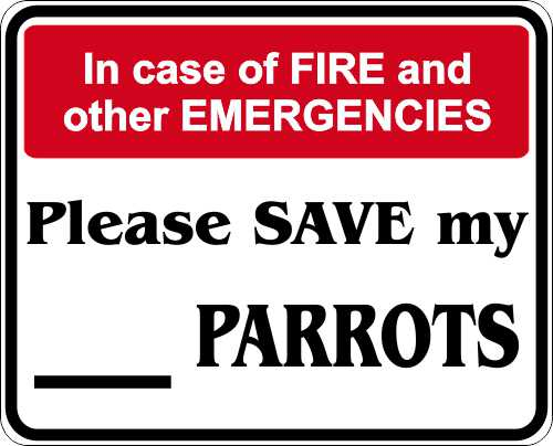 Quot In Case Of Fire Quot Safety Amp Warning Decals Bumper Stickers